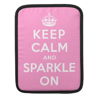 Keep Calm and Sparkle On iPad Sleeve
