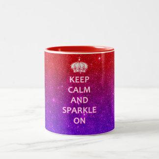 Keep Calm and Sparkle On Two-Tone Coffee Mug