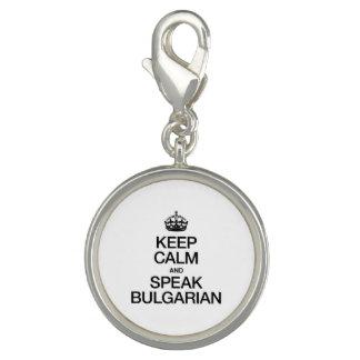 KEEP CALM AND SPEAK BULGARIAN CHARM BRACELETS