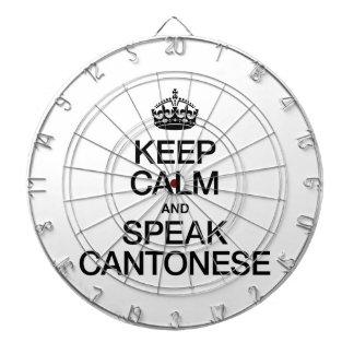 KEEP CALM AND SPEAK CANTONESE DARTBOARD WITH DARTS