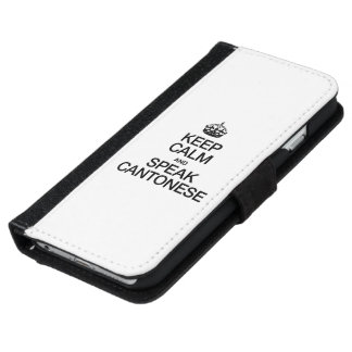 KEEP CALM AND SPEAK CANTONESE iPhone 6 WALLET CASE