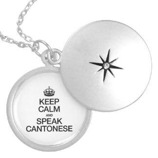 KEEP CALM AND SPEAK CANTONESE ROUND LOCKET NECKLACE