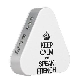 KEEP CALM AND SPEAK FRENCH SPEAKER