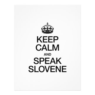 KEEP CALM AND SPEAK SLOVENE PERSONALIZED FLYER