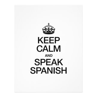 KEEP CALM AND SPEAK SPANISH FULL COLOR FLYER
