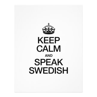 KEEP CALM AND SPEAK SWEDISH FULL COLOR FLYER
