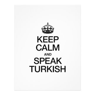 KEEP CALM AND SPEAK TURKISH PERSONALIZED FLYER