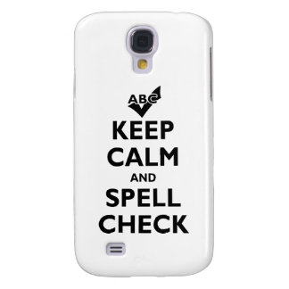 'Keep Calm And Spell Check' Galaxy S4 Case