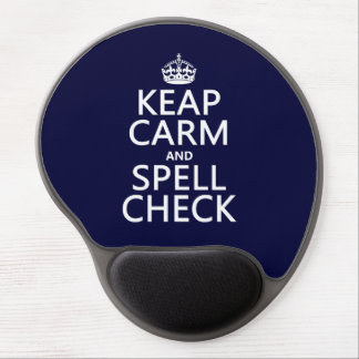 Keep Calm and Spell Check (with errors)(any color) Gel Mouse Pad