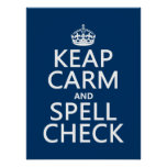 Keep Calm and Spell Check (with errors)(any colour Poster