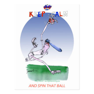 keep calm and spin that ball, tony fernandes postcard