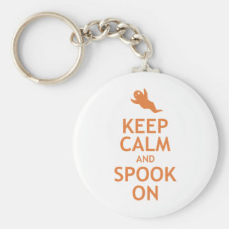 Keep Calm and Spook On Keychains