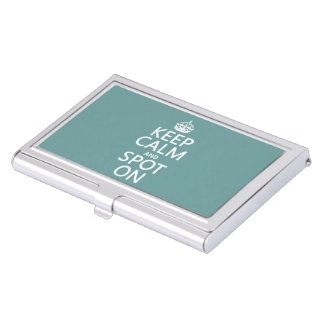 Keep Calm and Spot On (customize colours) Business Card Holder
