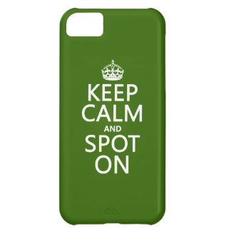 Keep Calm and Spot On (customize colours) iPhone 5C Case