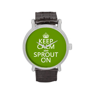 Keep Calm and Sprout On Wrist Watches