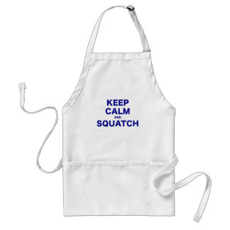 Keep Calm and Squatch Standard Apron