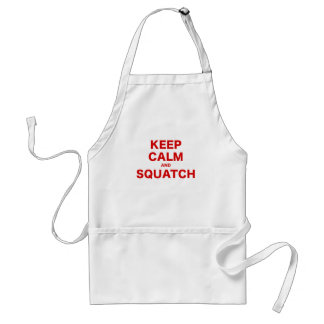 Keep Calm and Squatch Aprons