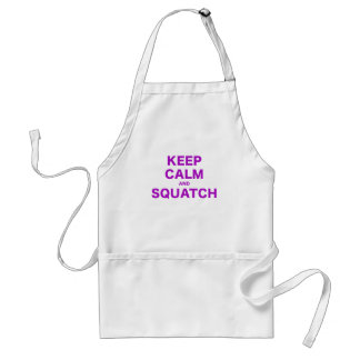 Keep Calm and Squatch Adult Apron