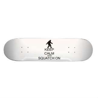 Keep Calm And Squatch On 19.7 Cm Skateboard Deck