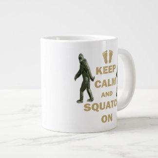 Keep Calm and Squatch On Large Coffee Mug