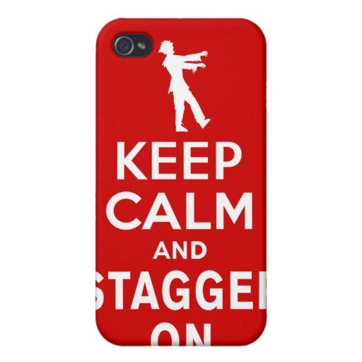 Keep Calm and Stagger On Fun Zombie Design iPhone 4/4S Case