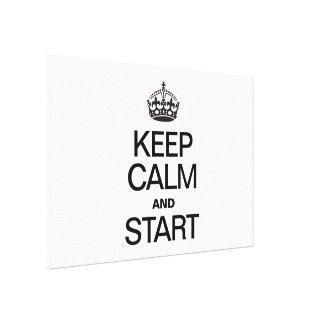 KEEP CALM AND STARE GALLERY WRAPPED CANVAS