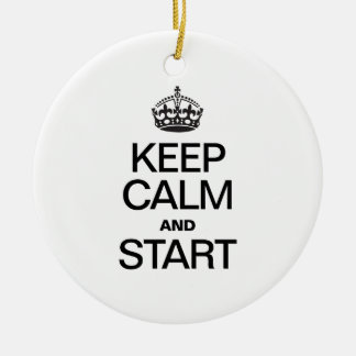 KEEP CALM AND STARE CHRISTMAS TREE ORNAMENT