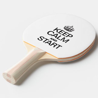KEEP CALM AND STARE PING PONG PADDLE