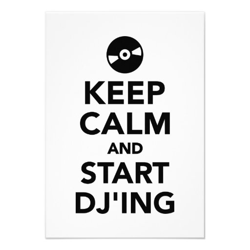 Keep calm and start DJ Announcements