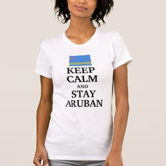 Keep calm and stay Aruban Tshirts