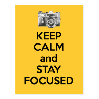 Keep Calm and Stay Focused Post Cards