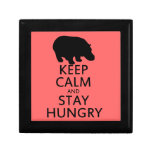 Keep Calm and Stay Hungry Keepsake Boxes