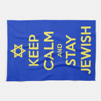 Keep Calm and Stay Jewish Tea Towel