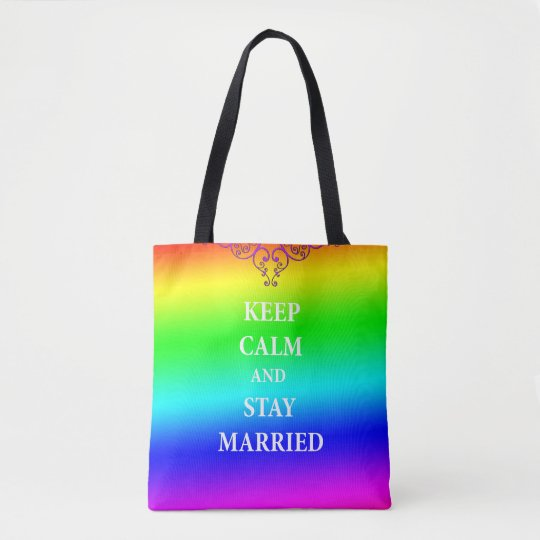 Keep calm and stay married All-Over-Print Tote Bag