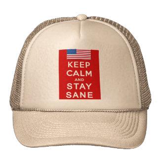 KEEP CALM AND STAY SANE Tshirts Mesh Hats