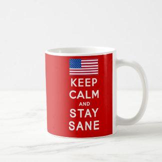 KEEP CALM AND STAY SANE Tshirts Mug