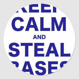 Keep Calm and Steal Bases Stickers