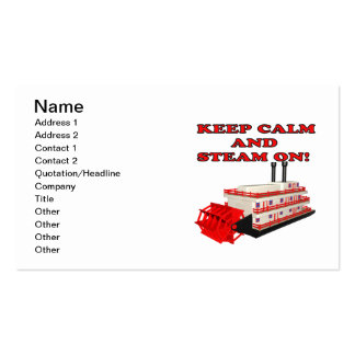 Keep Calm And Steam On 2 Pack Of Standard Business Cards