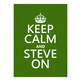 Keep Calm and Steve On (any color) 14 Cm X 19 Cm Invitation Card