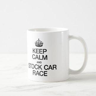 KEEP CALM AND STOCK CAR RACE COFFEE MUG