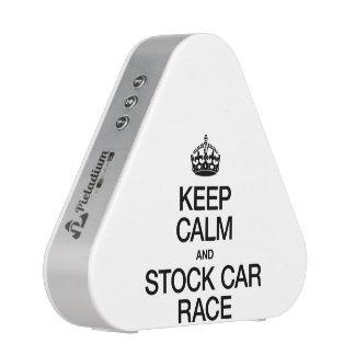 KEEP CALM AND STOCK CAR RACE BLUETOOTH SPEAKER