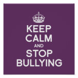 KEEP CALM AND STOP BULLYING PRINT