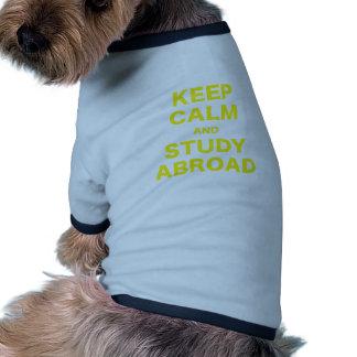 Keep Calm and Study Abroad Dog T-shirt