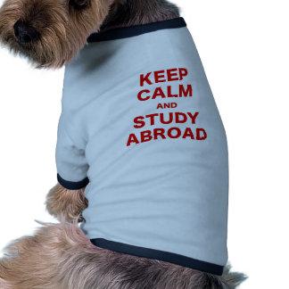 Keep Calm and Study Abroad Dog T Shirt
