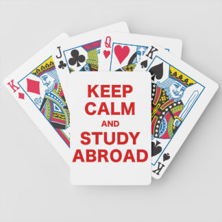 Keep Calm and Study Abroad Bicycle Card Deck
