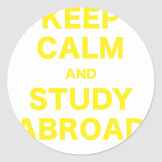 Keep Calm and Study Abroad Stickers