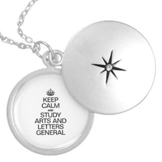 KEEP CALM AND STUDY ARTS AND LETTERS GENERAL LOCKETS