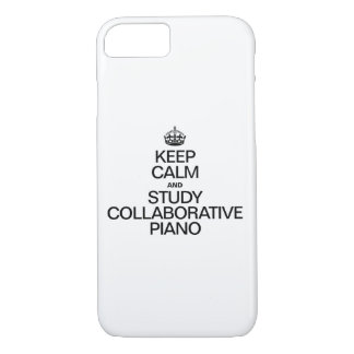 KEEP CALM AND STUDY  COLLABORATIVE PIANO iPhone 7 CASE