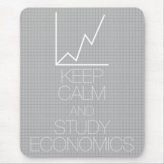 Keep Calm and Study Economics Mouse Pad
