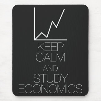 Keep Calm and Study Economics Mouse Pad